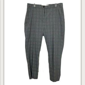 Treasure & Bond Pants Gray Plaid Stretch 34